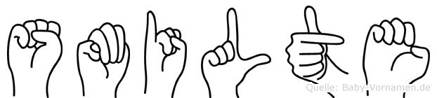 Smilte in Fingersprache für Gehörlose