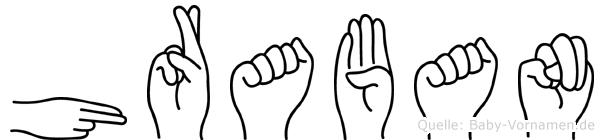 Hraban in Fingersprache für Gehörlose