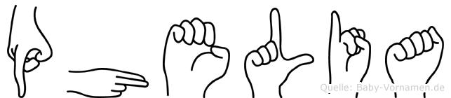 Phelia in Fingersprache für Gehörlose