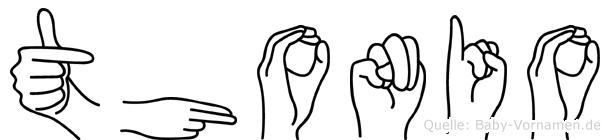 Thonio in Fingersprache für Gehörlose