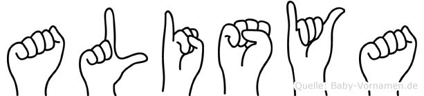 Alisya in Fingersprache für Gehörlose