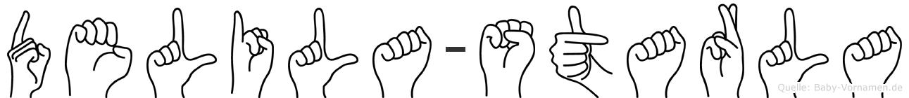 Delila-Starla im Fingeralphabet der Deutschen Gebärdensprache