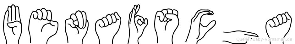 Benafscha im Fingeralphabet der Deutschen Gebärdensprache