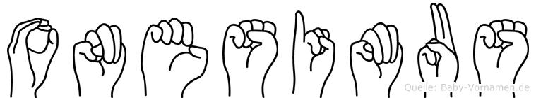 Onesimus in Fingersprache für Gehörlose