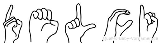Delci im Fingeralphabet der Deutschen Gebärdensprache