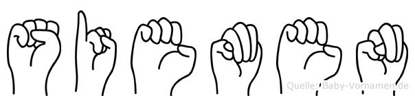 Siemen in Fingersprache für Gehörlose
