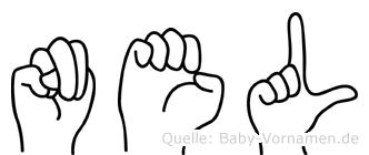 Nel in Fingersprache für Gehörlose