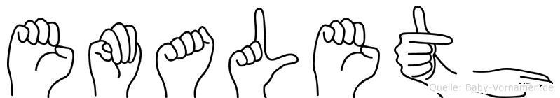 Emaleth in Fingersprache für Gehörlose