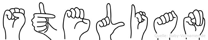 Stelian im Fingeralphabet der Deutschen Gebärdensprache
