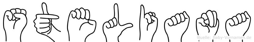 Steliana im Fingeralphabet der Deutschen Gebärdensprache