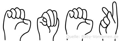 Emek in Fingersprache für Gehörlose