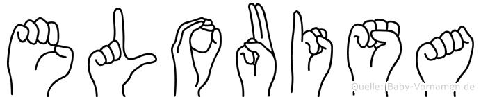 Elouisa im Fingeralphabet der Deutschen Gebärdensprache