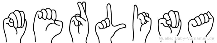 Merlina in Fingersprache für Gehörlose