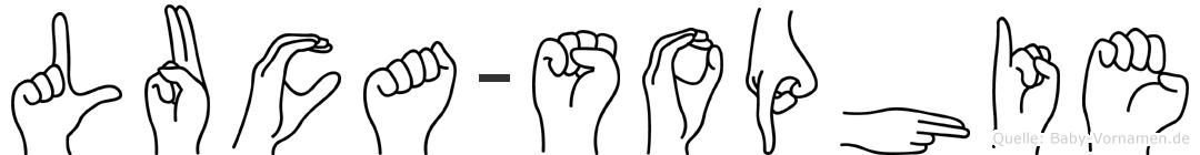 Luca-Sophie im Fingeralphabet der Deutschen Gebärdensprache