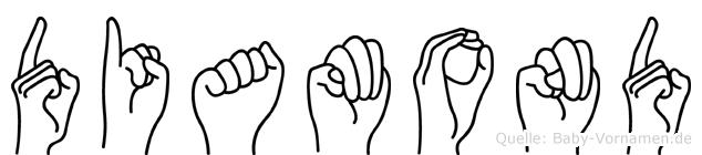 Diamond im Fingeralphabet der Deutschen Gebärdensprache
