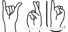 Yrjö in Fingersprache für Gehörlose