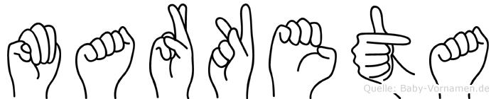 Marketa in Fingersprache für Gehörlose