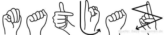 Matjaz im Fingeralphabet der Deutschen Gebärdensprache