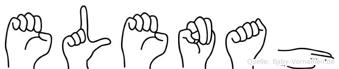 Elenah in Fingersprache für Gehörlose