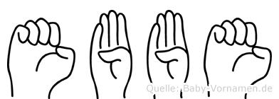Ebbe in Fingersprache für Gehörlose