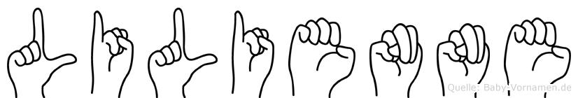Lilienne in Fingersprache für Gehörlose