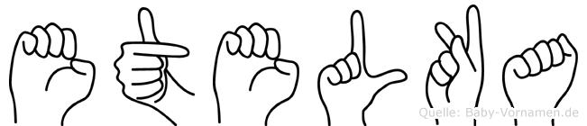 Etelka in Fingersprache für Gehörlose