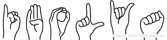 Ibolya im Fingeralphabet der Deutschen Gebärdensprache