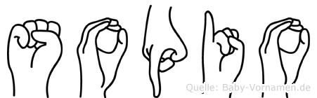 Sopio in Fingersprache für Gehörlose