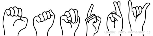 Eandry in Fingersprache für Gehörlose
