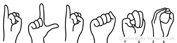 Iliano in Fingersprache für Gehörlose