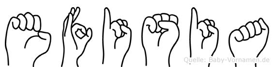 Efisia in Fingersprache für Gehörlose
