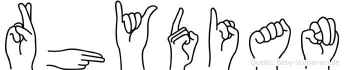 Rhydian in Fingersprache für Gehörlose