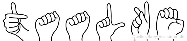 Taalke im Fingeralphabet der Deutschen Gebärdensprache