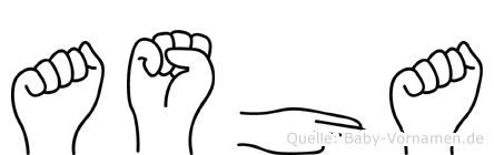 Asha in Fingersprache für Gehörlose