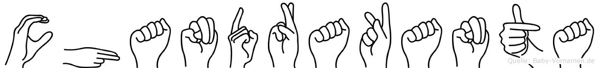 Chandrakanta in Fingersprache für Gehörlose
