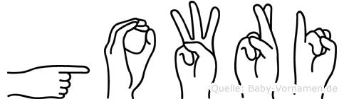 Gowri in Fingersprache für Gehörlose