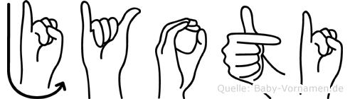 Jyoti in Fingersprache für Gehörlose