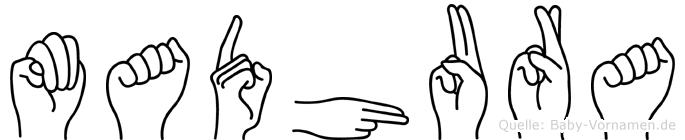 Madhura in Fingersprache für Gehörlose
