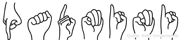 Padmini im Fingeralphabet der Deutschen Gebärdensprache