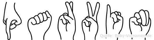 Parvin im Fingeralphabet der Deutschen Gebärdensprache