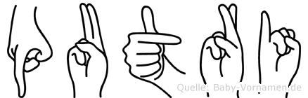 Putri in Fingersprache für Gehörlose