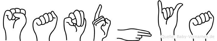 Sandhya im Fingeralphabet der Deutschen Gebärdensprache