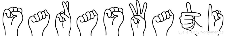 Saraswati in Fingersprache für Gehörlose