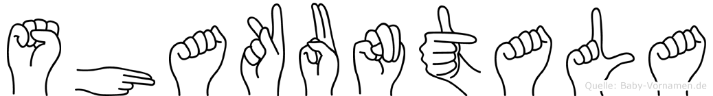 Shakuntala im Fingeralphabet der Deutschen Gebärdensprache