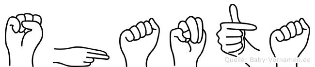 Shanta in Fingersprache für Gehörlose