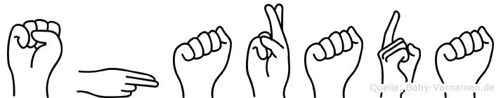 Sharada in Fingersprache für Gehörlose