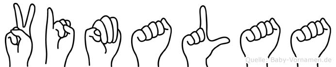 Vimalaa im Fingeralphabet der Deutschen Gebärdensprache