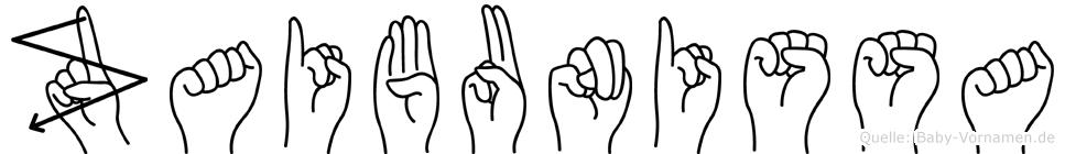 Zaibunissa im Fingeralphabet der Deutschen Gebärdensprache