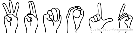 Wunold im Fingeralphabet der Deutschen Gebärdensprache