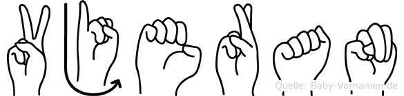 Vjeran in Fingersprache für Gehörlose